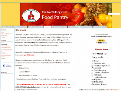 Go to North Kingstown Food Pantry