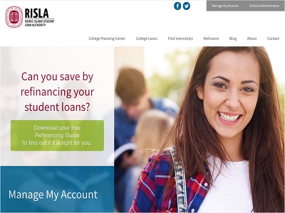 Go to RI Student Loan Authority (RISLA)