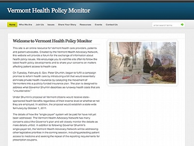 Vermont Health Policy Monitor